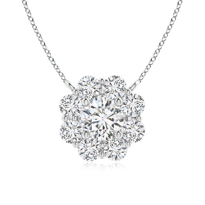 b12576e00f5ab8 Floral Cluster Diamond Necklace | Angara