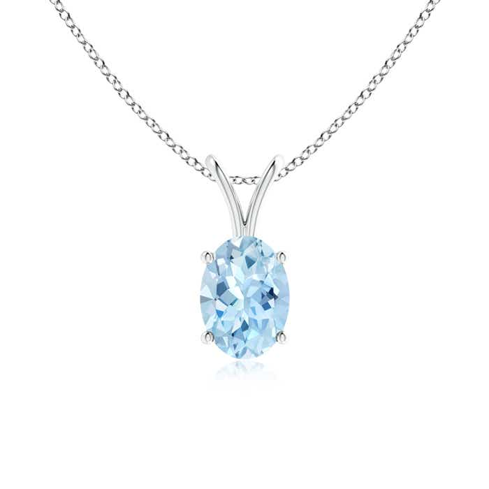 Angara Emerald-Cut Aquamarine Solitaire Pendant with Diamond pqPvJj