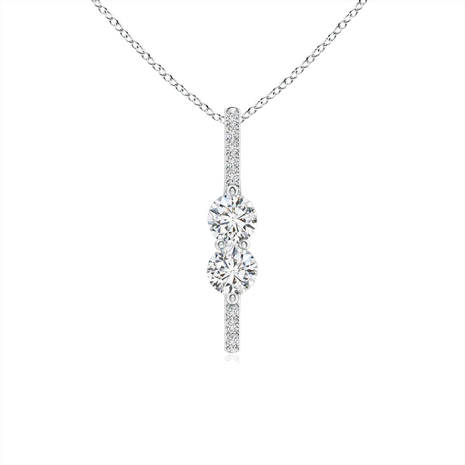 cross pendant diamond necklace forevermark yellowgold jewellery moissanite lugaro