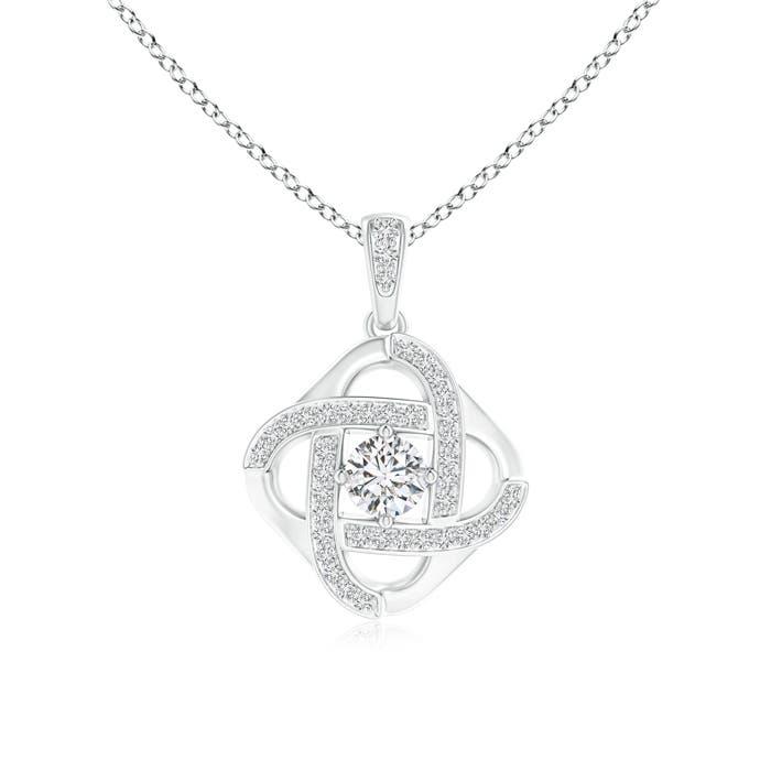 Angara Pave-Set Diamond Celtic Cross Dangle Pendant xIe67dLG