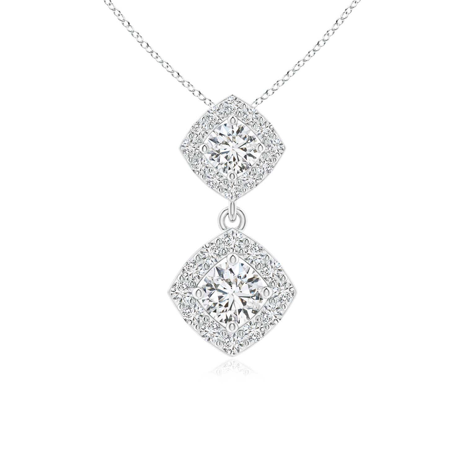 Angara Double Diamond Bypass Pendant