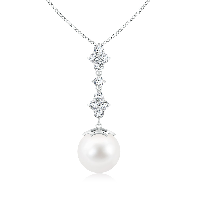 Angara Classic Freshwater Cultured Pearl Drop Pendant with Diamonds xUDcf1tmX