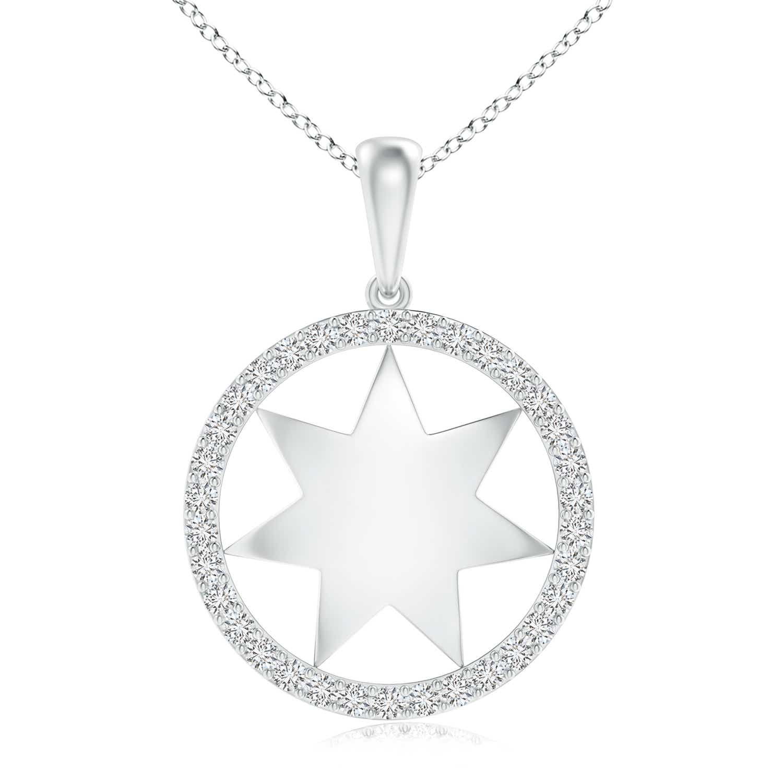 Polished Star Diamond Circle Dangle Pendant - Angara.com