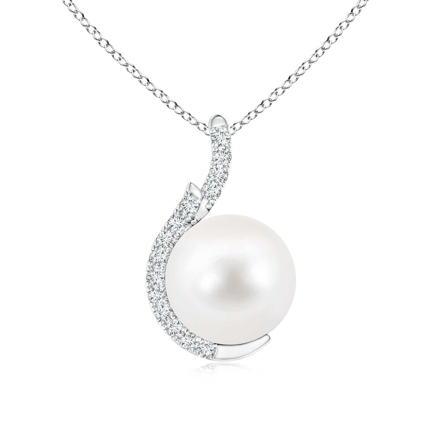 Angara Two Stone Freshwater Cultured Pearl Twist Pendant GGq6lP
