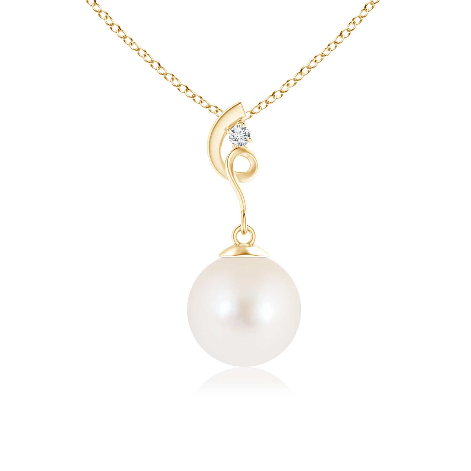 Angara Freshwater Cultured Pearl Drop Pendant with Sapphires yhDeWMP
