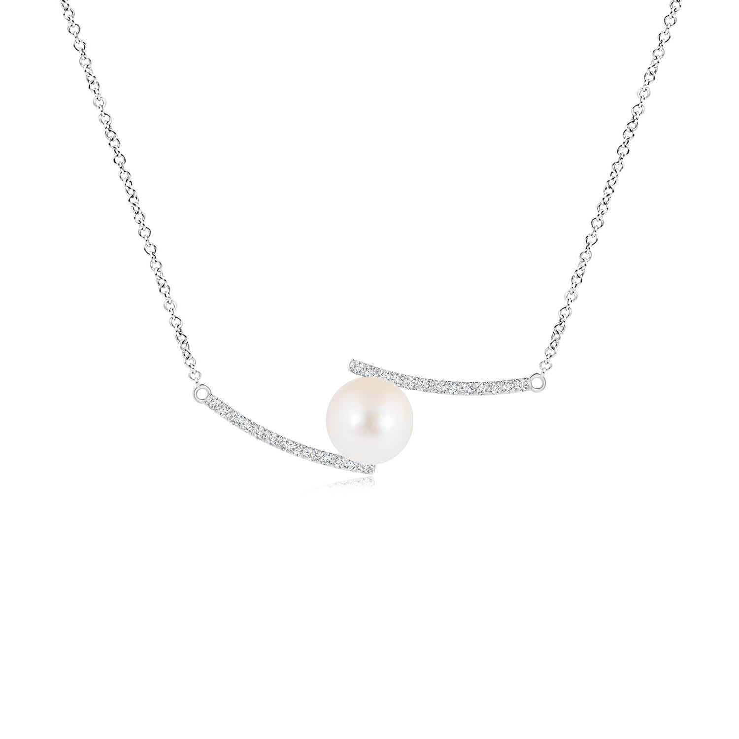 Angara Contemporary Coffee Diamond Bar Necklace f1Fa5