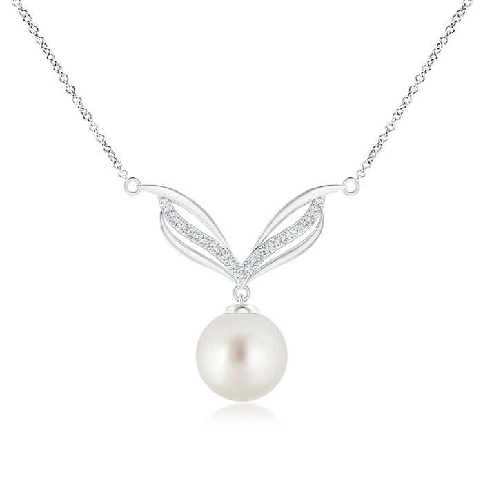 Angara South Sea Cultured Pearl Pendant with Graduated Diamonds Muy2fQPH