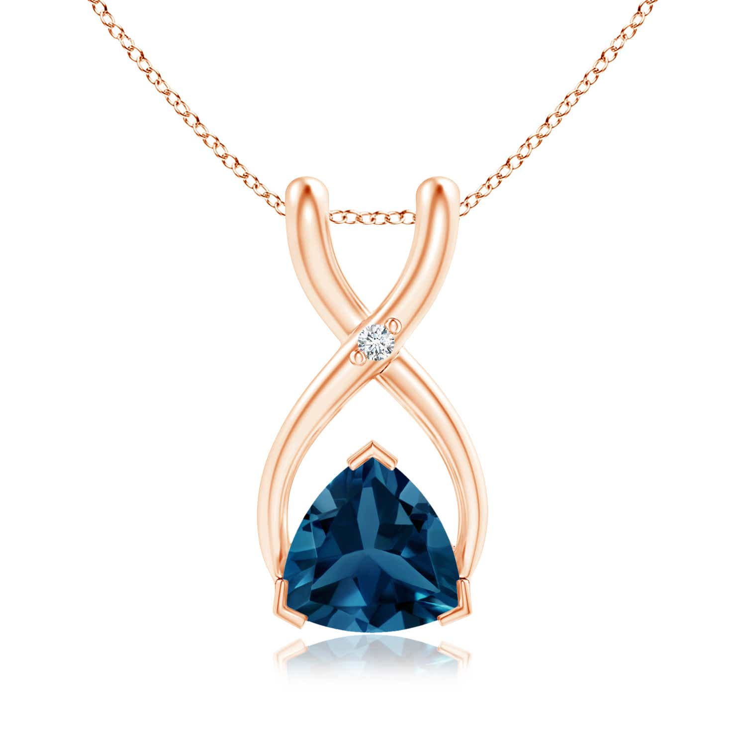 Angara London Blue Topaz Solitaire Pendant in Yellow Gold o9Mz7qUOAa