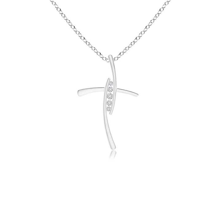Angara Pave-Set Diamond Cross Pendant fCDFhKCRon
