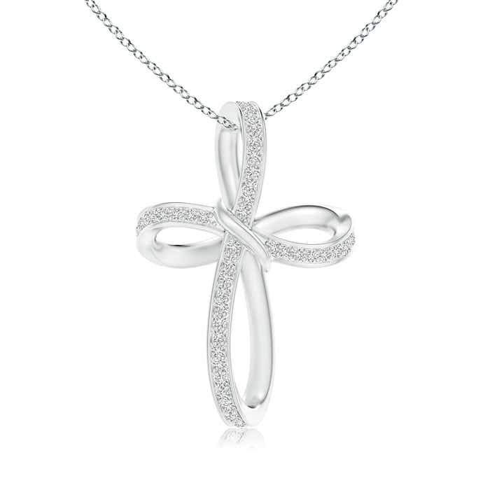 Angara Diamond Braided Cross Pendant kTsyu2MI