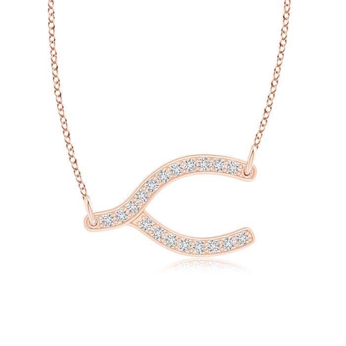 Round natural diamond sideways wishbone pendant necklace white gold round natural diamond sideways wishbone pendant necklace white aloadofball Image collections