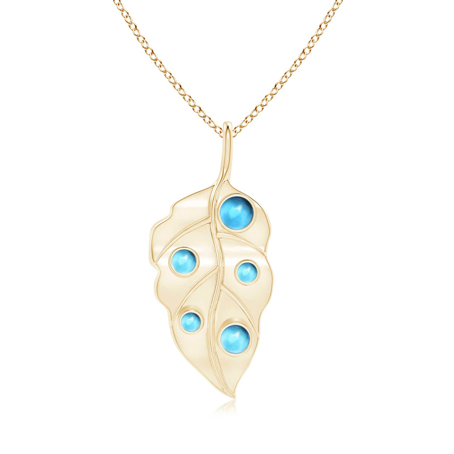 Angara Pear Drop Swiss Blue Topaz and Diamond Necklace in Rose Gold A90l1mz