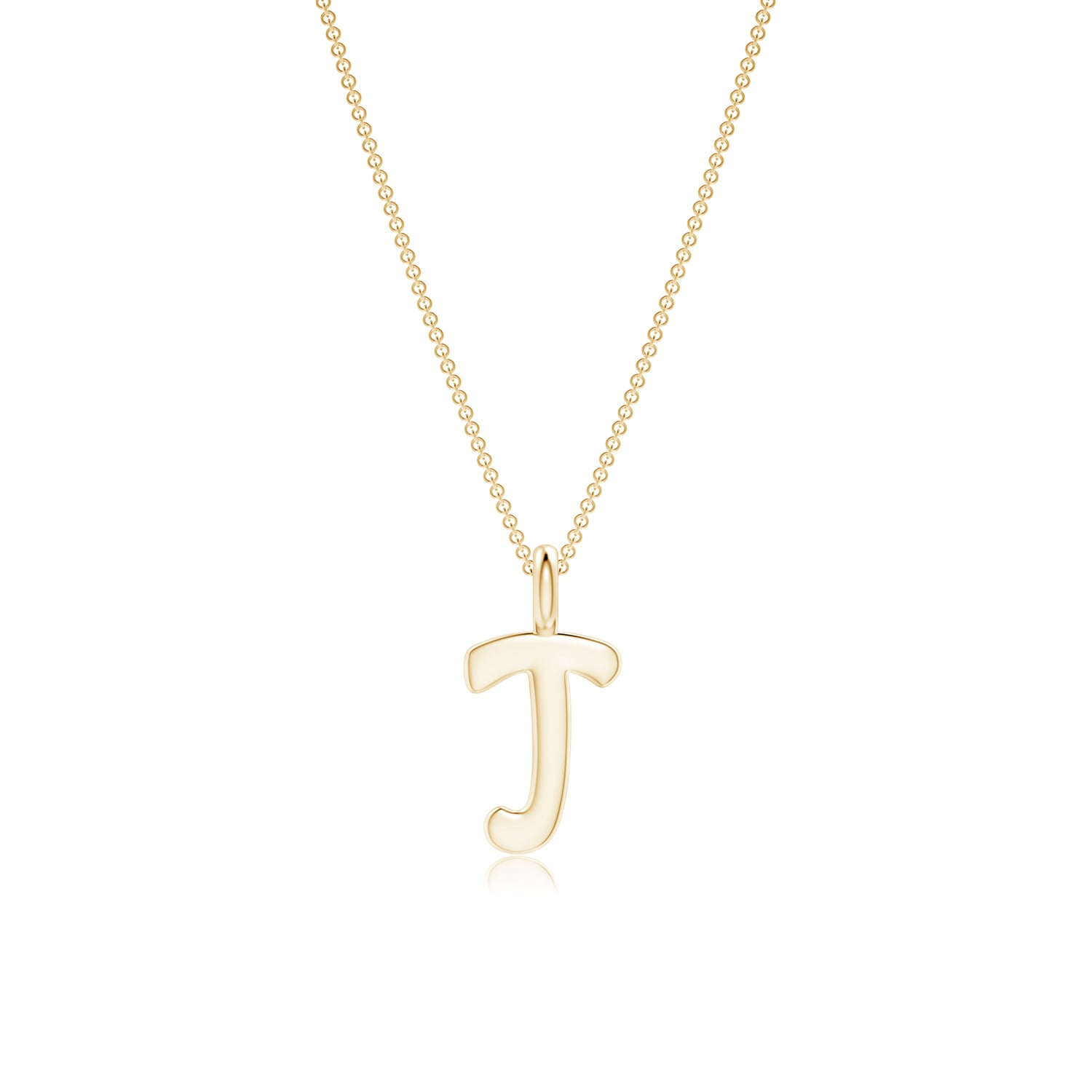Capital letter j initial pendant necklace with 18 chain in gold capital letter 034 j 034 initial pendant necklace aloadofball Images