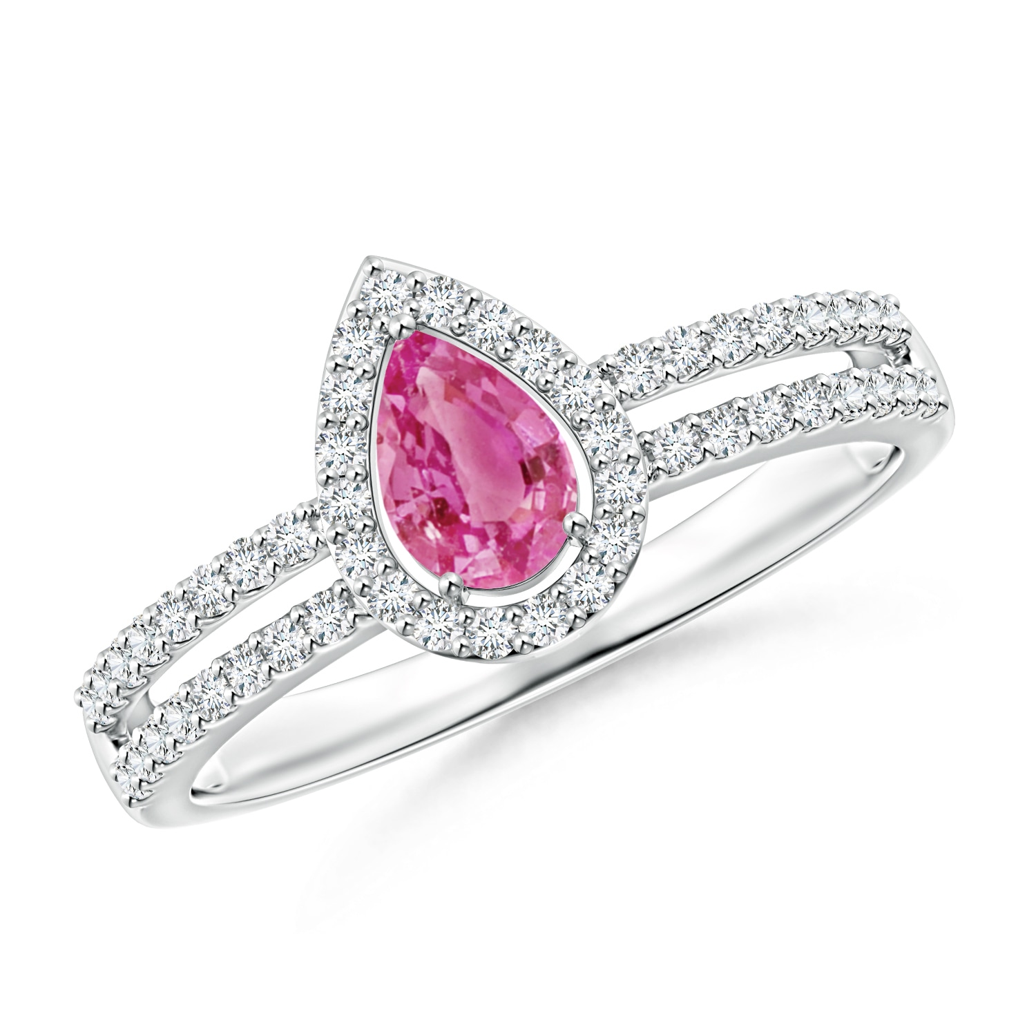 Angara Pink Sapphire Engagement Ring in Yellow Gold kUxL3btrBf