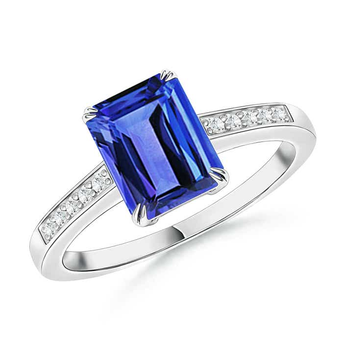 Angara Oval Tanzanite Bypass Ring in White Gold rgZq1CJaMH