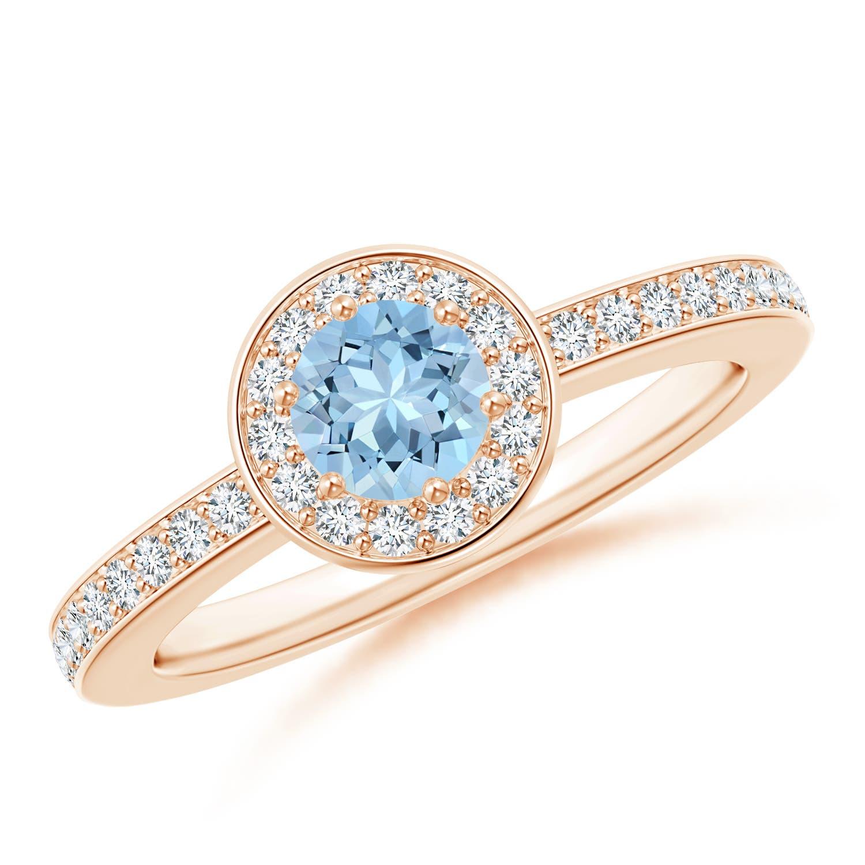 Angara Natural Aquamarine Engagement Ring in Platinum Spk5iF1Pl9