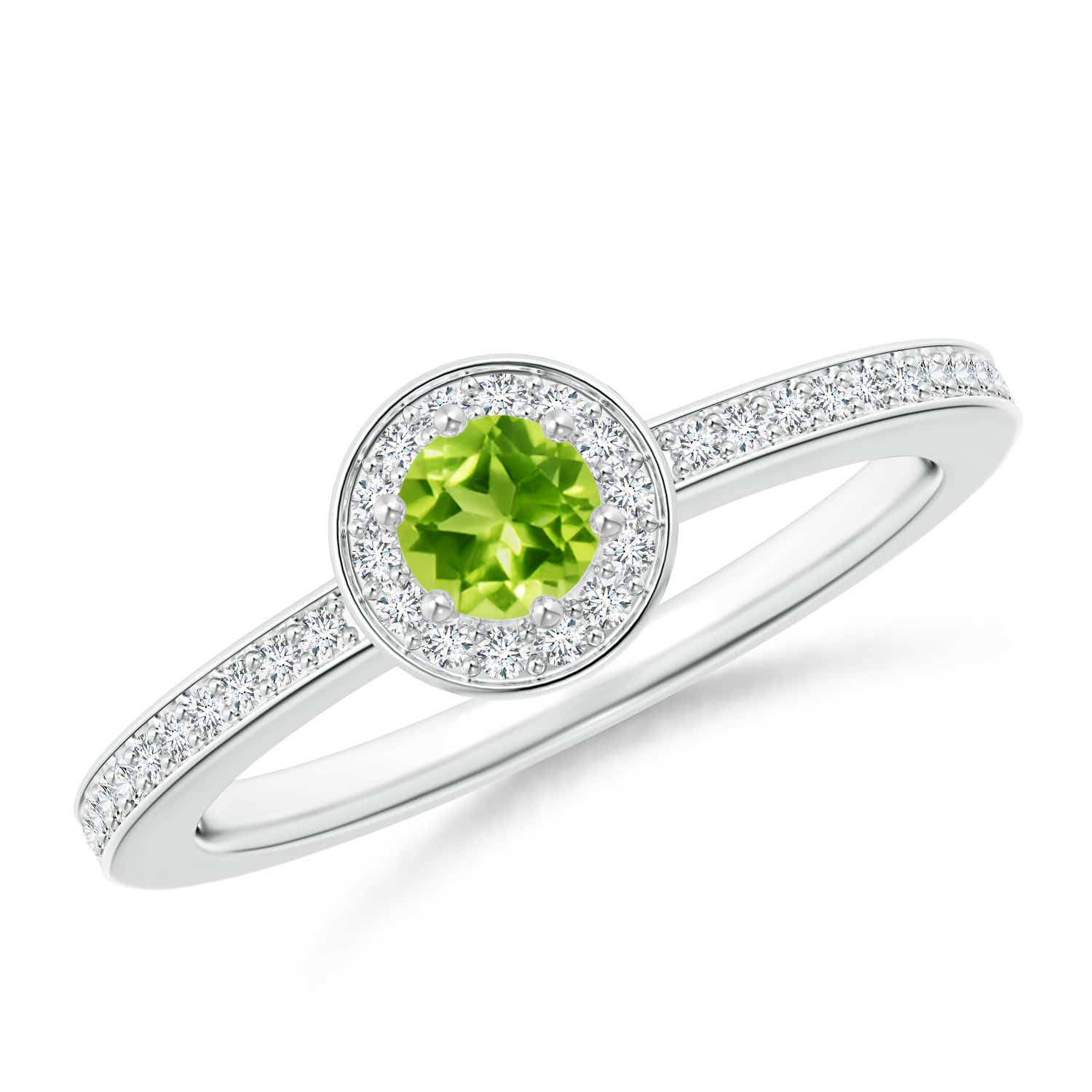 women s peridot ring rings silver twist size engagement sterling green pin halo