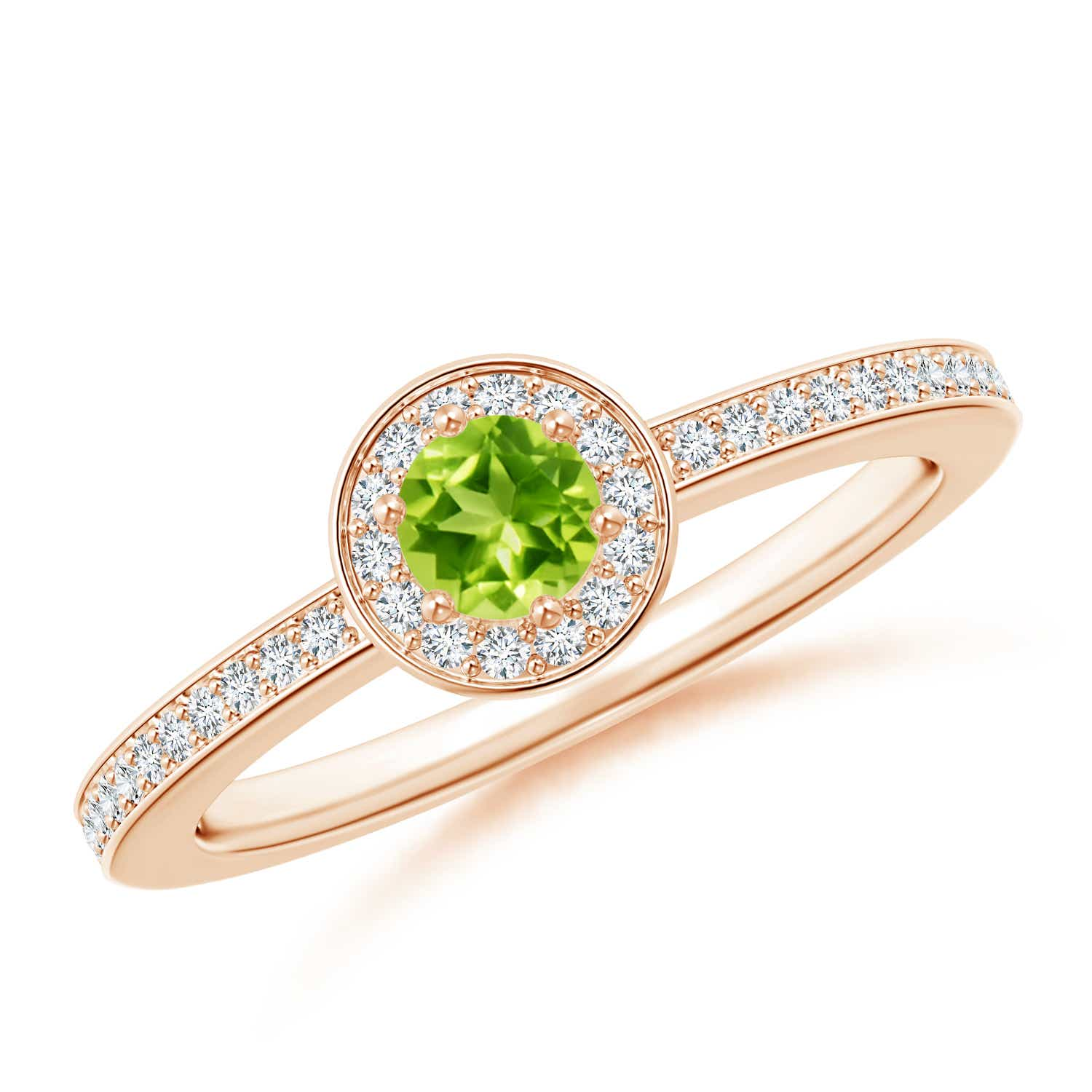 Angara Peridot Engagement Ring in Yellow Gold TXHOm
