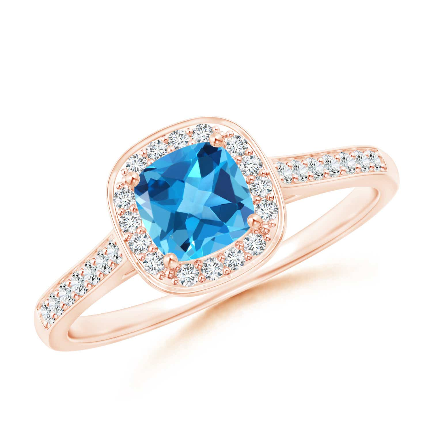Angara Vintage Swiss Blue Topaz Engagement Ring in White Gold DTaIGs0g