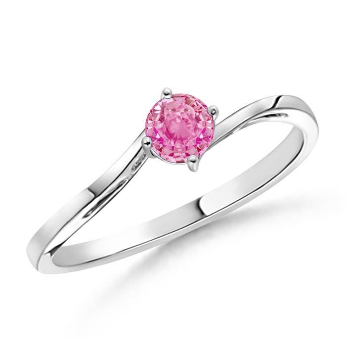 Angara Pink Sapphire Twisted Ring in 14k Yellow Gold ax8QfLQ