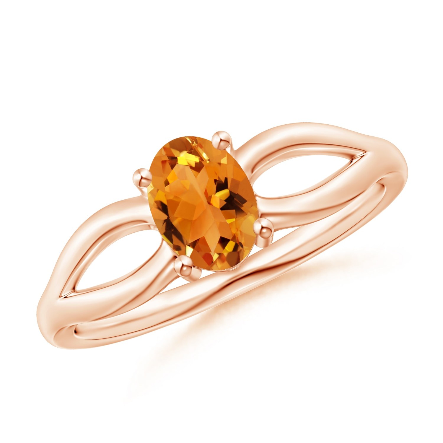 Angara Natural Citrine Ring in Yellow Gold 6DP8u