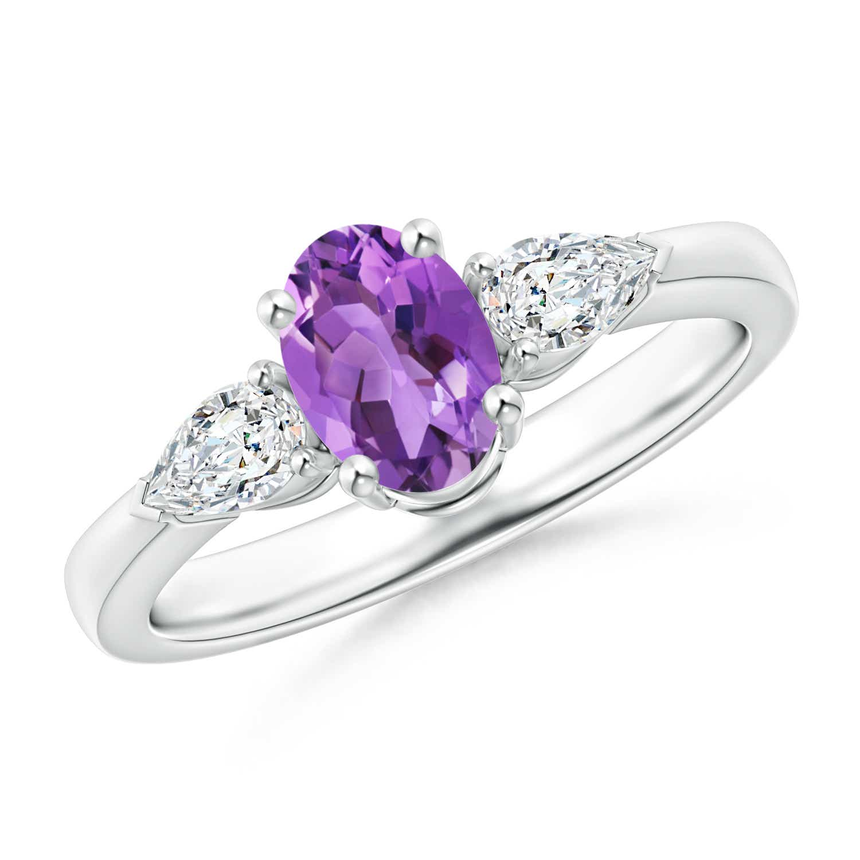 Angara White Gold Four Stone Diamond Engagement Ring s5EmY