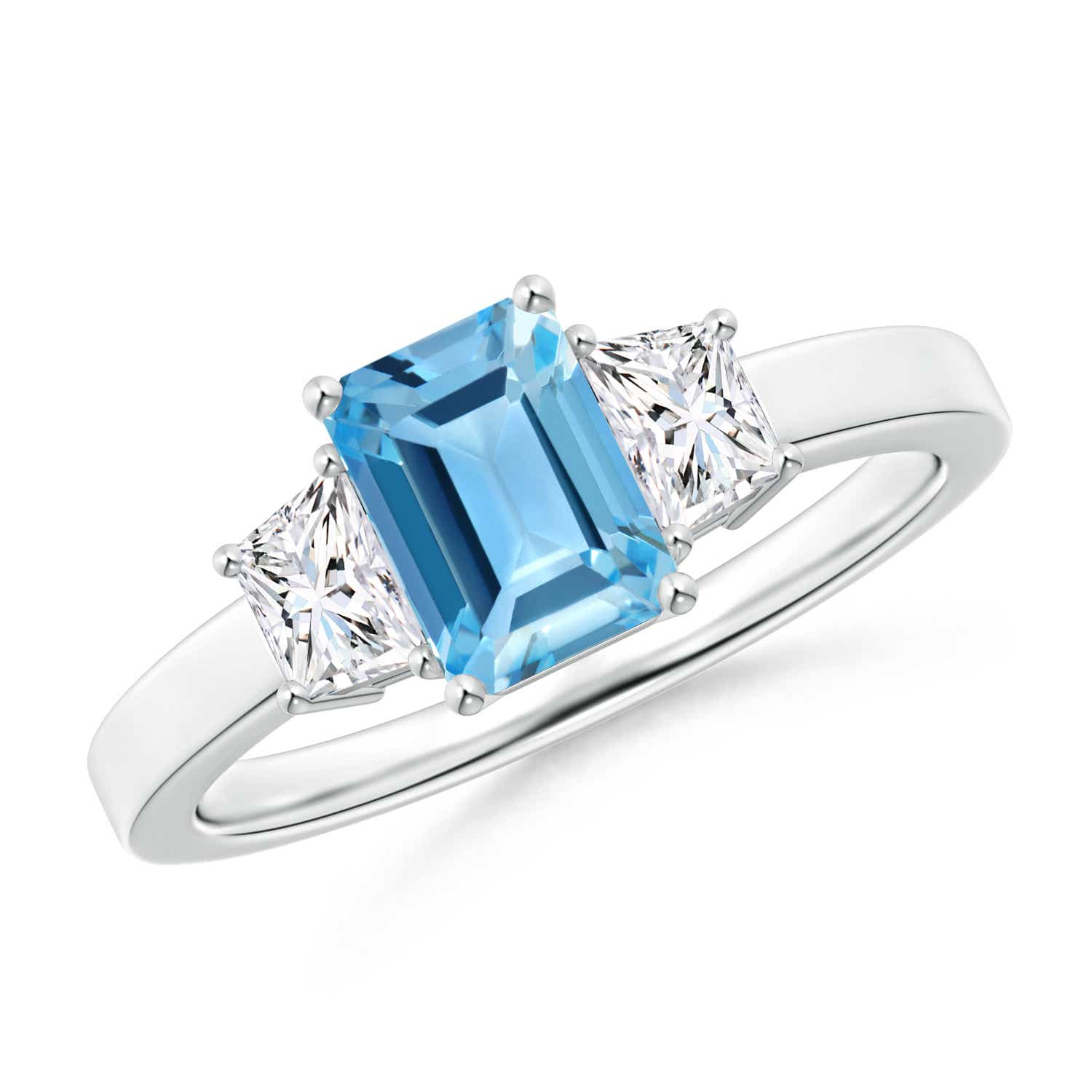 Angara Marquise Swiss Blue Topaz Ring in Platinum xYiCaDK8l