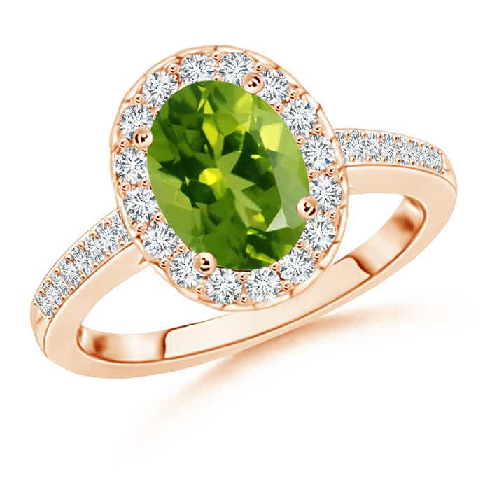 Oval-Peridot-Halo-Ring-with-Diamond-Engagement-Ring-14K-Yellow-Gold