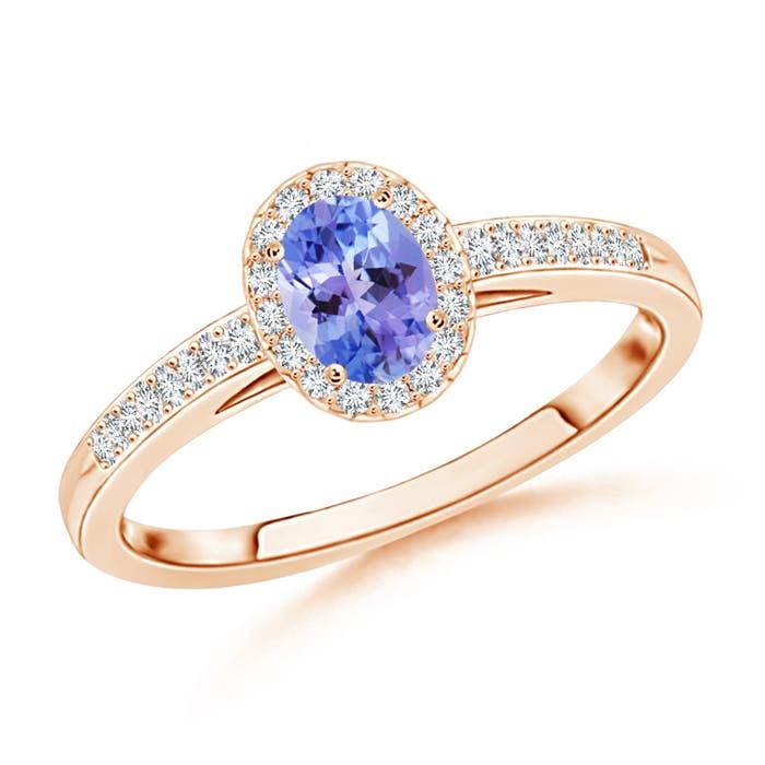 Angara Natural Tanzanite Diamond Engagement Ring in Yellow Gold ILXTSAL8es