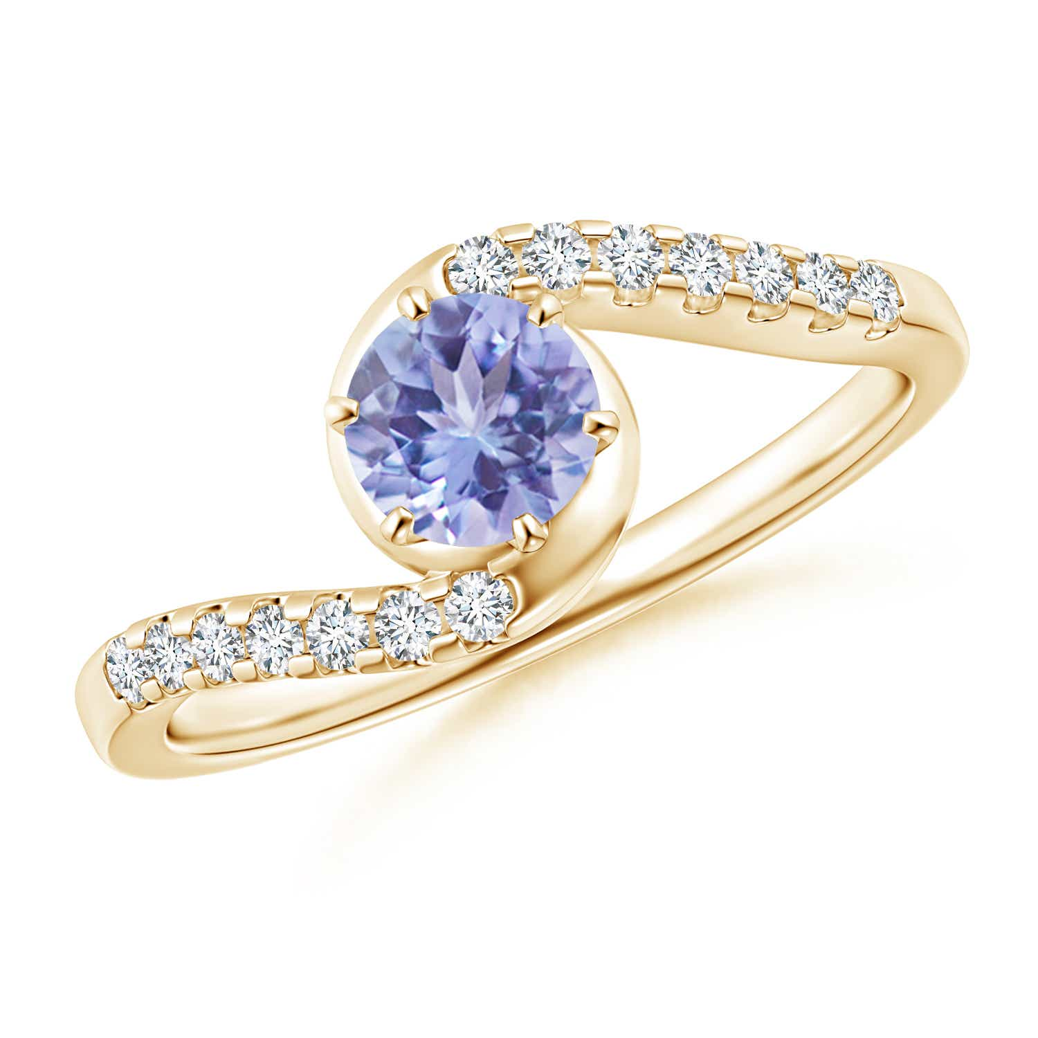 Angara Natural Tanzanite Solitaire Ring in Platinum wLL6dXbSdB