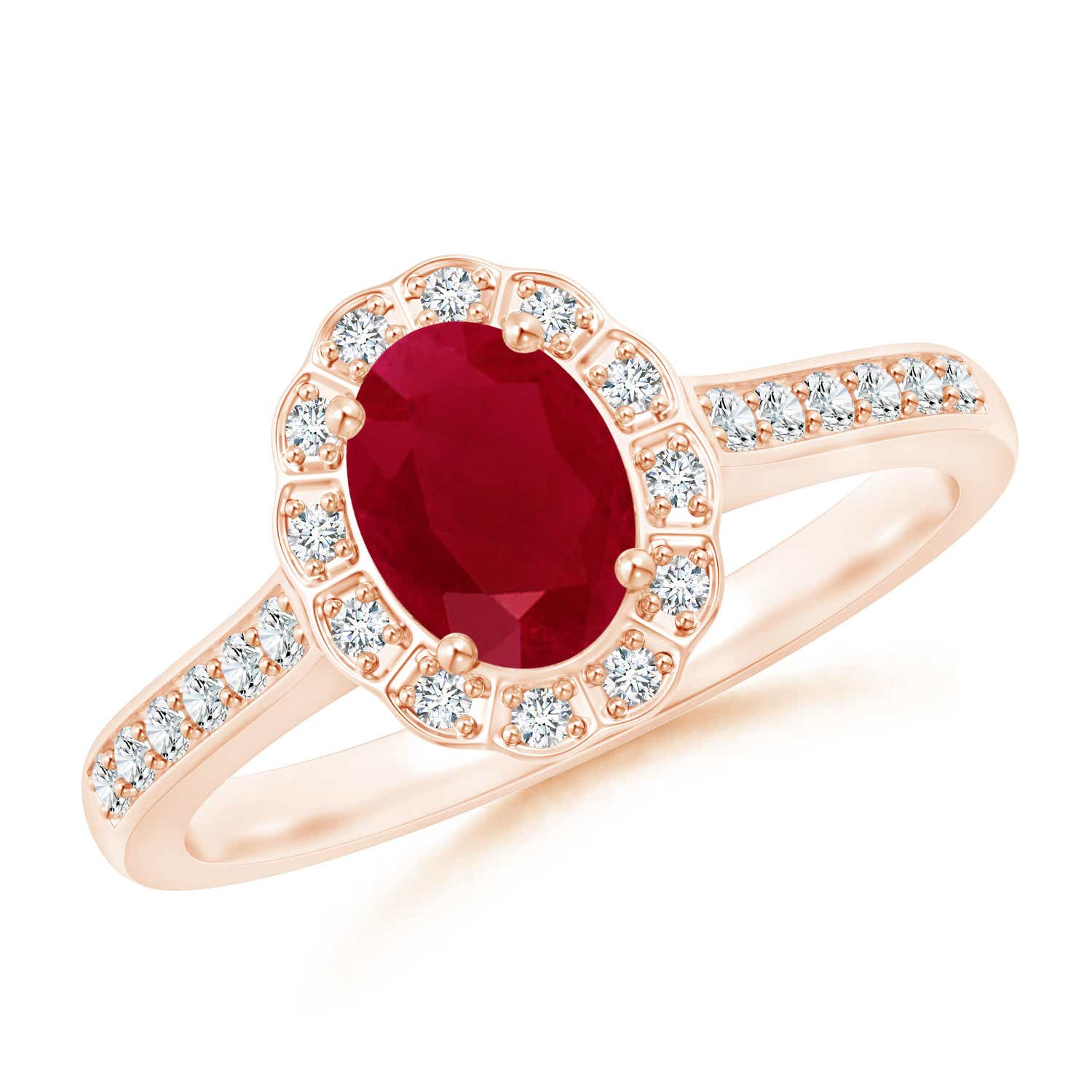Angara Natural Ruby Engagement Ring in 14k Yellow Gold zrgXzR5T