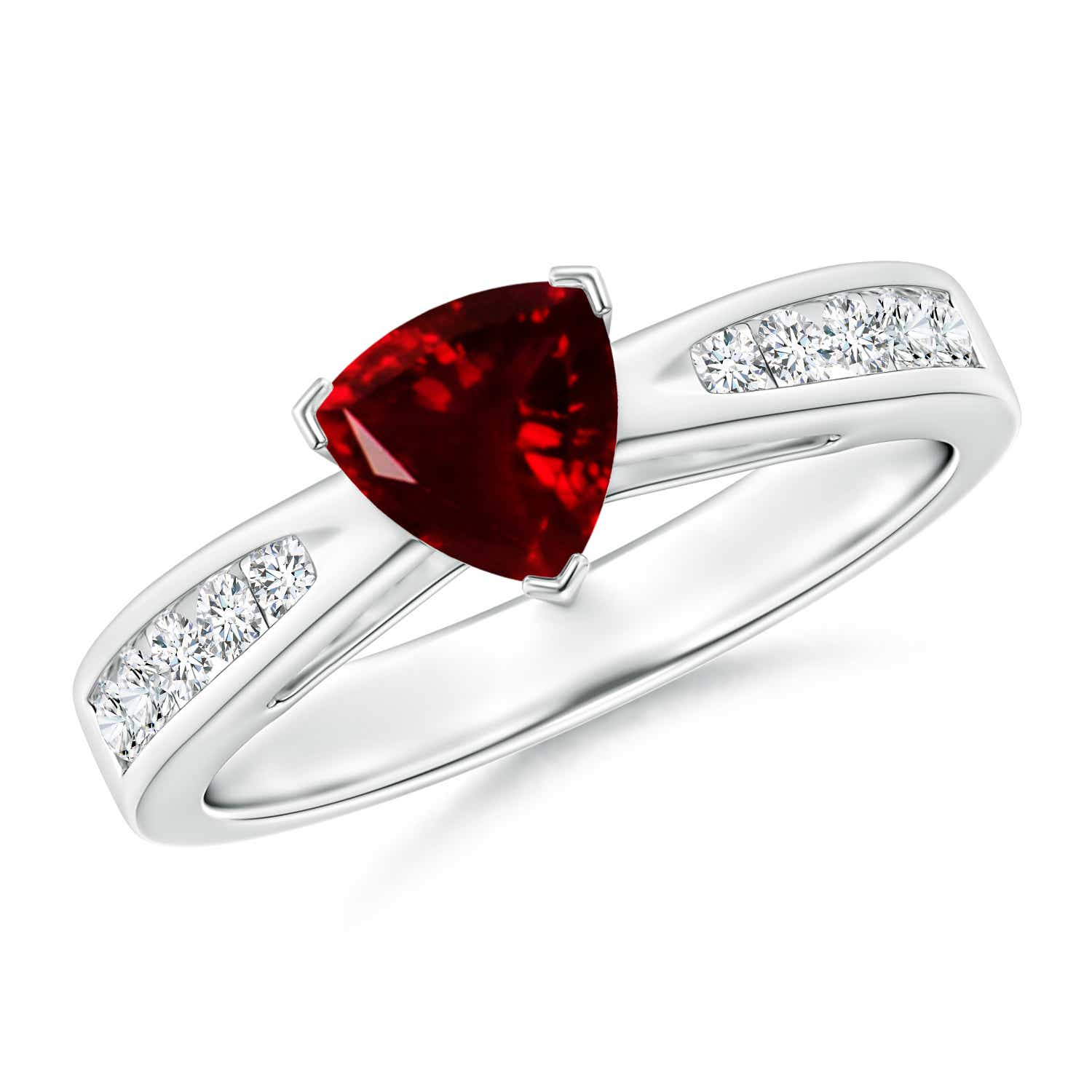 d571d452a55fd Trillion Garnet Solitaire Ring with Diamond Accents