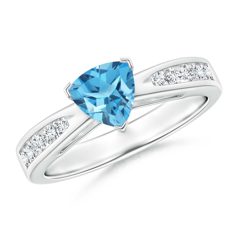 Angara Trillion Swiss Blue Topaz and Diamond Cathedral Ring dvnCYSjp1