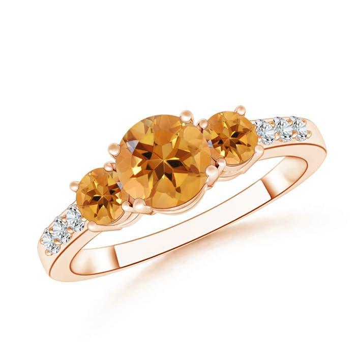 Angara Natural Citrine Engagement Ring in White Gold wGqiN