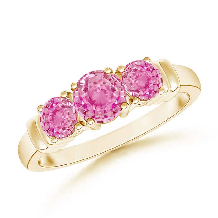Angara Natural Pink Sapphire Ring in Platinum