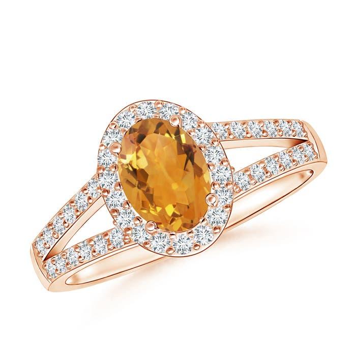 Angara Split Shank Vintage Citrine Ring in White Gold CGyzdjDNS
