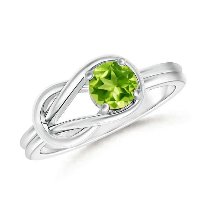 Angara Classic Solitaire Half Bezel Peridot Engagement Ring oqzAqvx