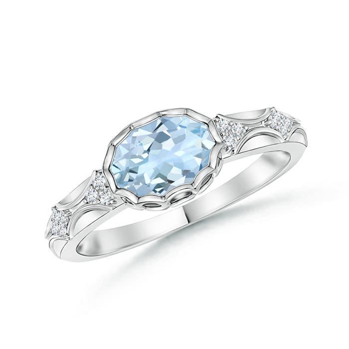 Angara Natural Aquamarine Ring in Platinum n8fmT5f