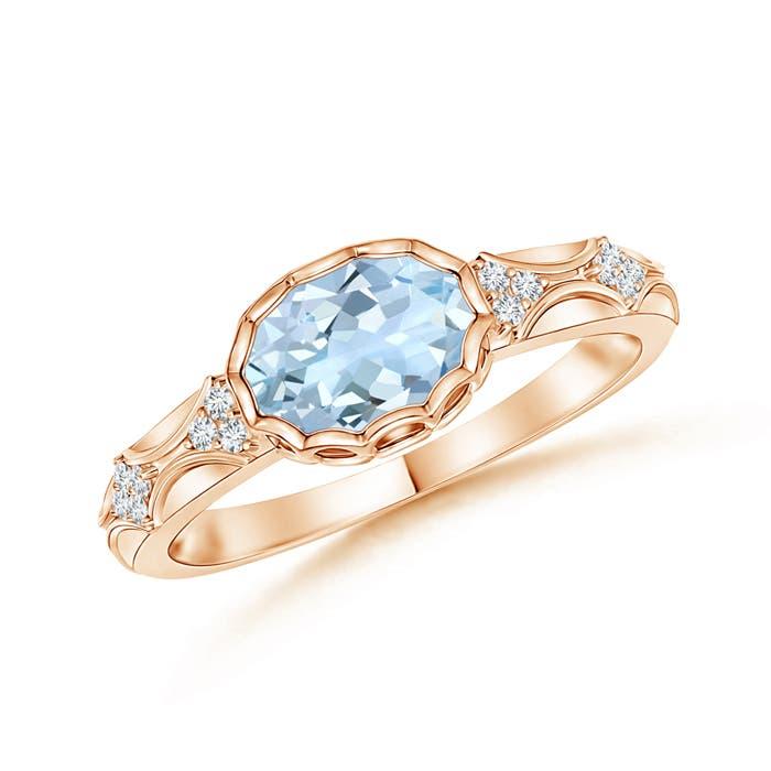 Angara Natural Aquamarine Engagement Ring in Yellow Gold 7AUDG3haeR