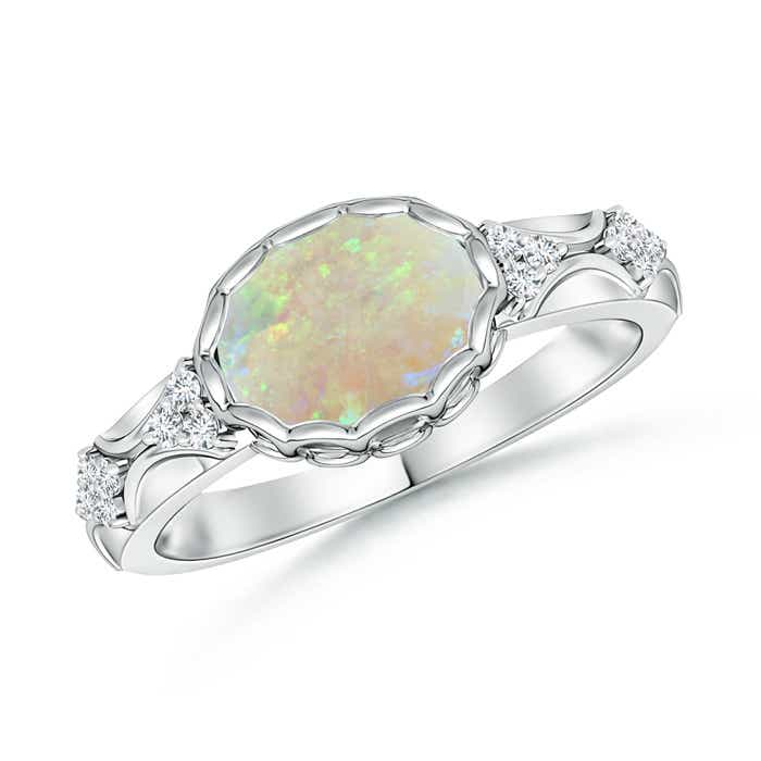 Angara Solitaire Oval Opal Cathedral Ring with Diamond Accents wL9rkOtlOZ