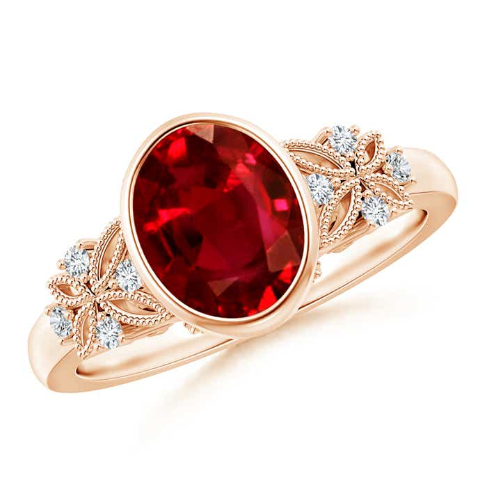 Angara Entwined Split Ruby and Diamond Halo Ring (GIA Certified Ruby) kgRPn8