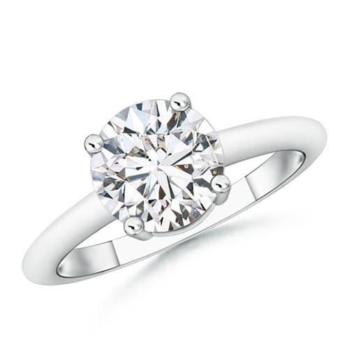 4 Prong Round Diamond Solitaire Engagement Ring - Angara.com