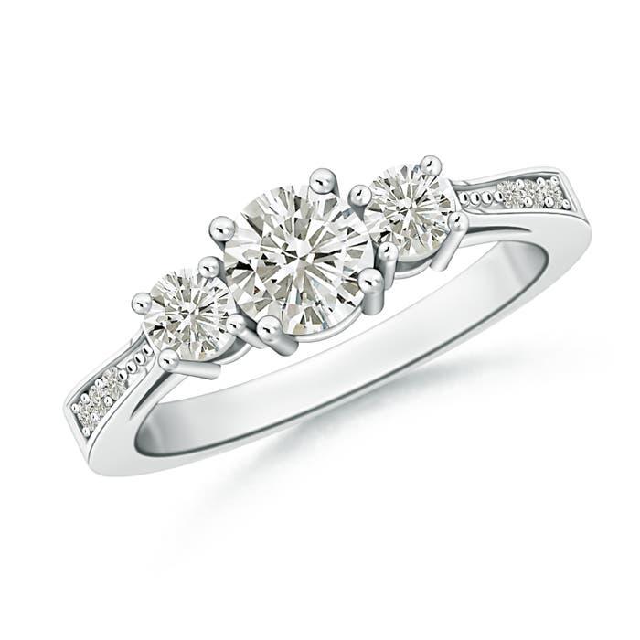 Angara Moissanite Solitaire Ring in Platinum kXE4gW