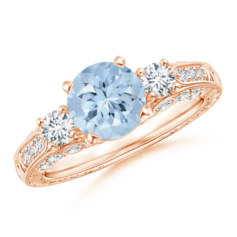 Angara Natural Aquamarine Engagement Ring in Platinum dFSubsQk