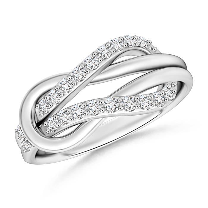 Encrusted Diamond Infinity Love Knot Ring - Angara.com