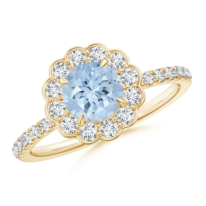 1-1ct-Vintage-Style-Aquamarine-Diamond-Flower-Ring-in-Gold-Platinum-Size-3-13
