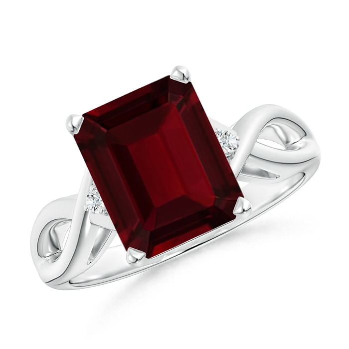 Solitaire-Natural-Emerald-Cut-Garnet-Ring-in-14k-Gold-Platinum-Size-3-13