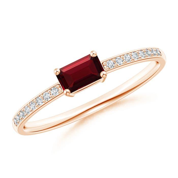 Emerald-Cut-Natural-Garnet-Solitaire-Ring-14K-Rose-Gold-Platinum-Size-3-13