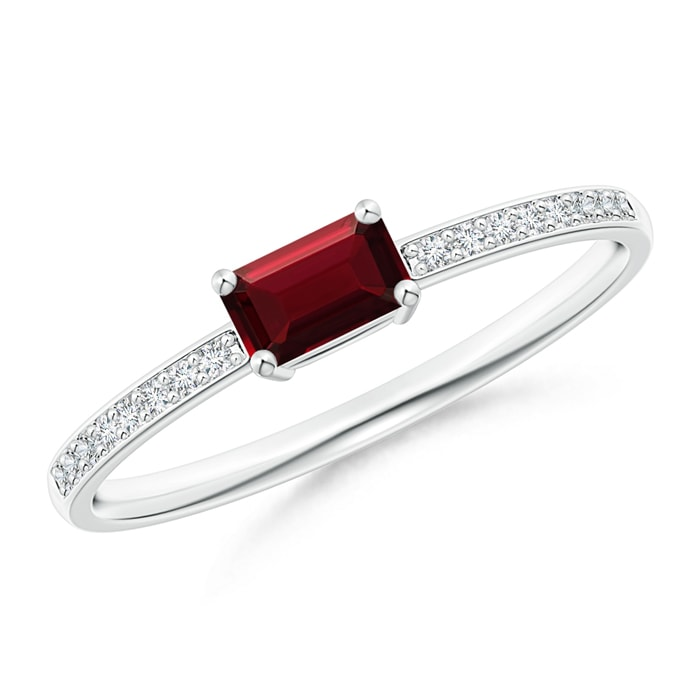 4356d8993d52f East-West Emerald-Cut Garnet Solitaire Ring