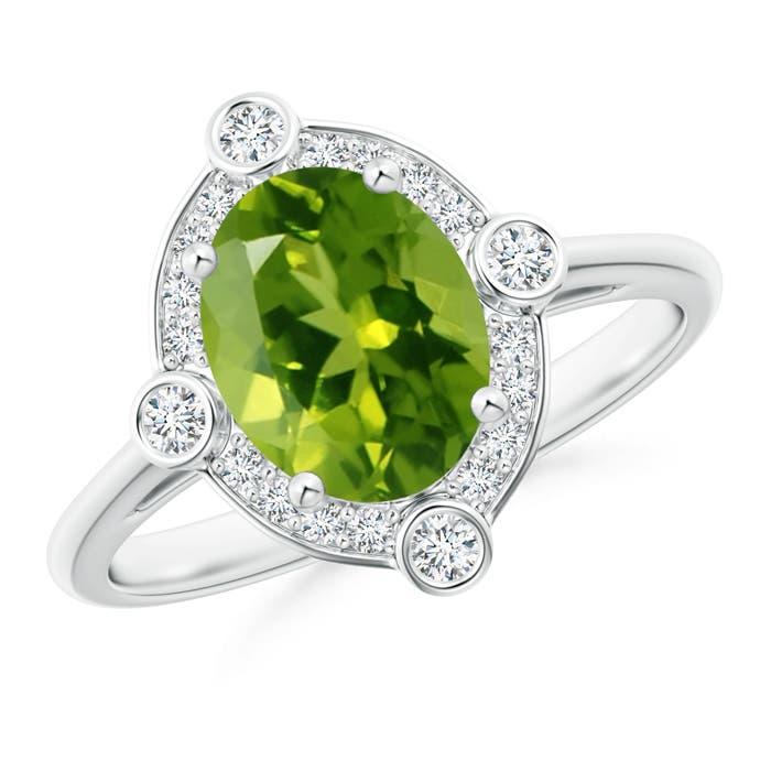 14K-Yellow-Gold-Oval-Peridot-amp-Diamond-Halo-Ring
